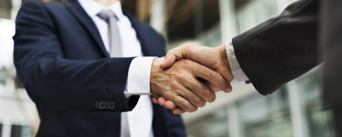 Business Handshake Deal Greeting Concept